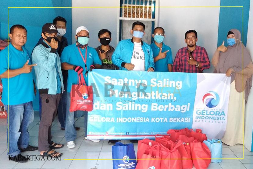 DPD Gelora Kota Bekasi Distribusikan 1000 Paket Sembako
