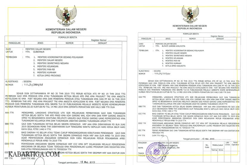 Sekjen Kemendagri : Pencairan THR dan Gaji ke 13 Hukumnya Wajib