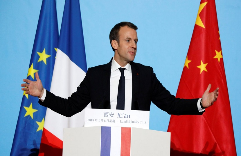 Presiden Prancis Ejek Trump di Cina