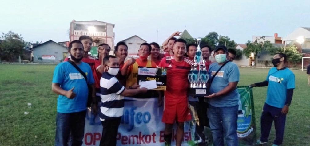 Disperkimtan Kota Bekasi Ungguli Dishub di Piala Trofeo OPD 2020